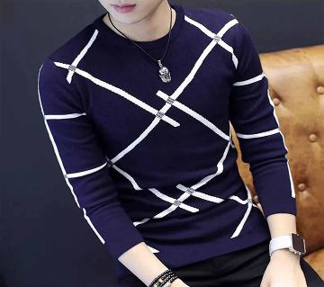 Stylish Mens Full Sleeve T-Shirt