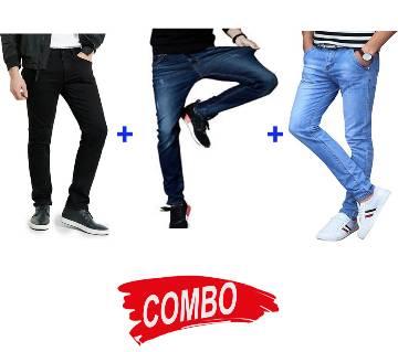 Narrow jeans pant+Slim fit jeans+Semi Narrow Jeans Combo