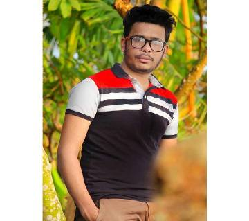 Mens Cotton Solid Color Polo Shirt