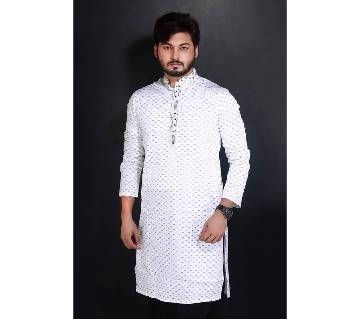 Semi-long Gents Cotton Panjabi 896