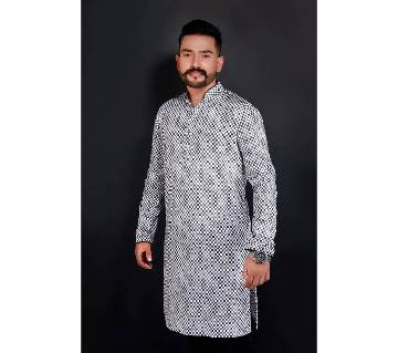 Semi-long Gents Cotton Panjabi 895