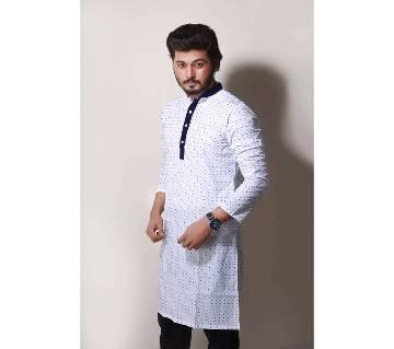 Semi-long Gents Cotton Panjabi 891