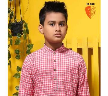 semi long cotton punjabi for kids