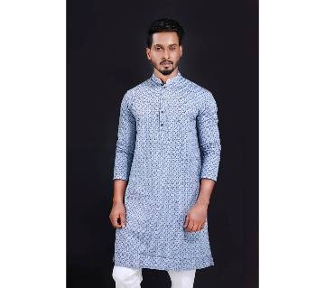 Semi-long Gents Cotton panjabi 852