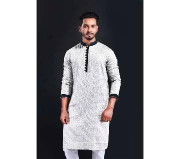gents cotton semi long punjabi