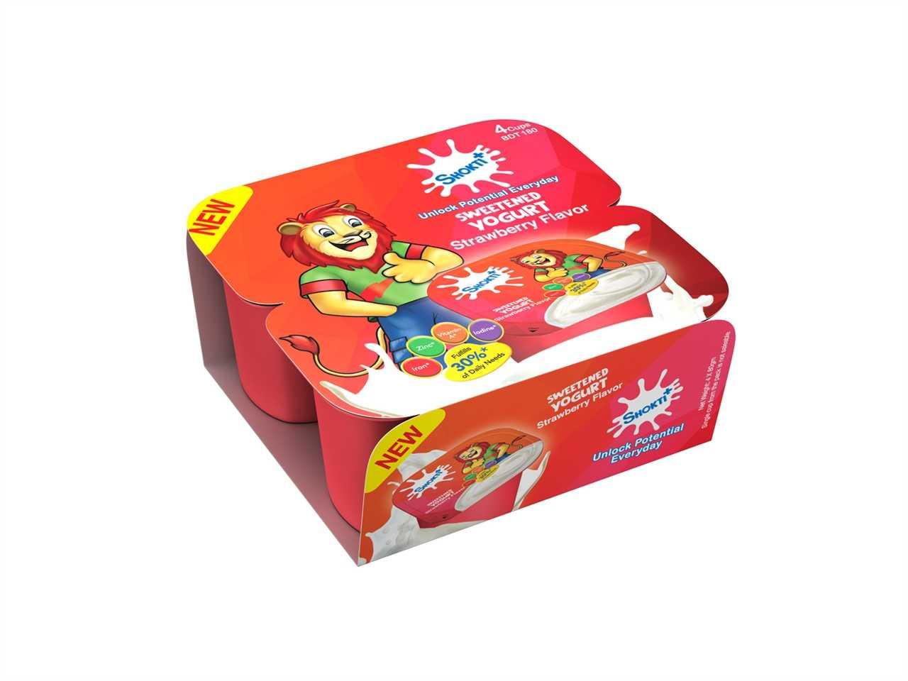 Shakti Plus Sweet Yogurt Strawberry Combo Pack 4 Pcs