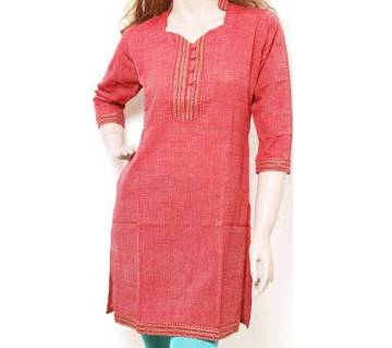 Ready made taant cotton single piece kurti