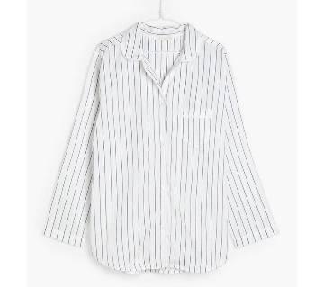 Zara Ladies Full Sleeve Stripe Cotton Shirt