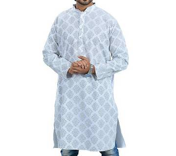 Indian feather cotton semi long gents punjabi