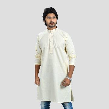 Kashmiri cotton semi long gents punjabi