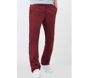 Mango Straight Fit Casual Chino-Red
