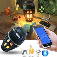 Flame Atmosphere Bluetooth Speaker With LED Light