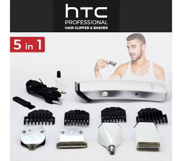 HTC AT-1201 5 in 1 Rechargeable Hair Trimmer