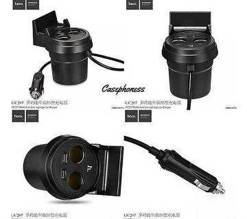 Hoco Cup Shape Car Charger with 2 USB Port