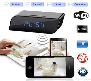 Hidden WiFi Table Clock Camera