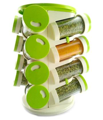 Trueware Revolving Spice Rack And Cutlery holder