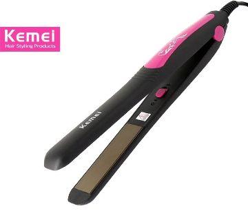 Kemei KM-328 Professional Hair Straightener (Pink)