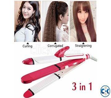 Kemei KM-1213 Professional 3 in 1 Hair Straightener