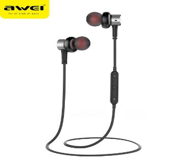 Awei B923BL Bluetooth 4.2 Wierless In-ear Sport Earphone with Microphone Line Control Black