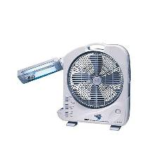 Sunca SF-292A - Dual Battery Rechargeable Fan With Light - 12""