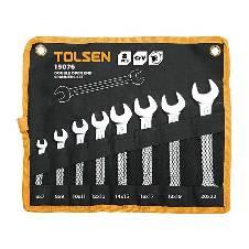 Tolsen 8 PCS Double Open End Spanner Set