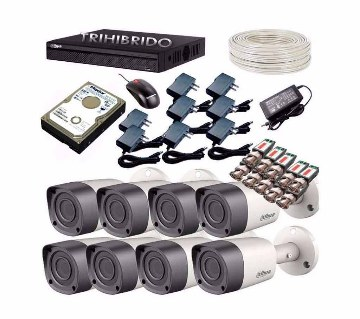 HD CCTV camera DVR full package- 8 pc