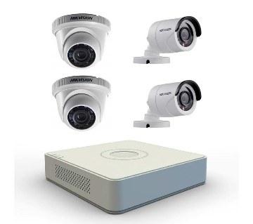4nos HD CCTV ক্যামেরা উইথ DVR হার্ডডিস্ক