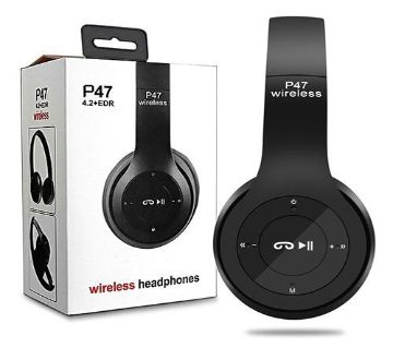 Wireless Bluetooth Headphone P47 Stereo Earphone with SD Card Slot