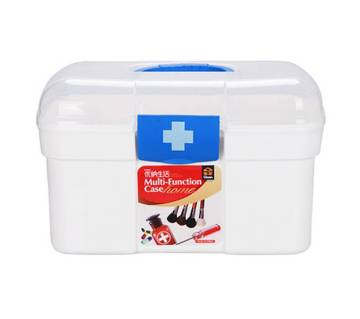 Medium Size First Aid Kit Box - White