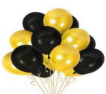 BLACK and GOLD Birthday Balloons 200pcs