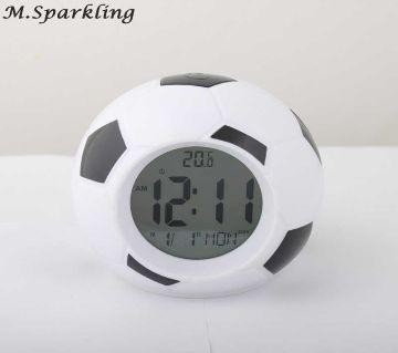 Football Soccer Clock LED Alarm Clock Digital