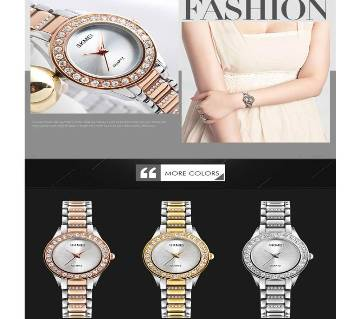 Skmei 1262 - Silver and Rose Gold Stainless Steel Analog Watch for Women