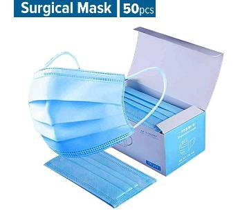 SURGICAL FACE MASK 50 PCS (Nose Bar Adaptable)