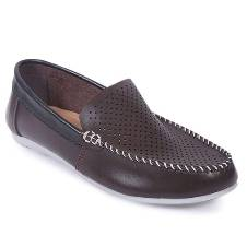 Voice PU Leather Casual Loafer - Chocolate