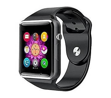 luetooth Smart Watch Phone with Pedometer Camera Single SIM - Black