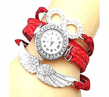 Red Bracelet Watch for Women