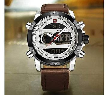 Coffee Leather Wrist Watch for Men