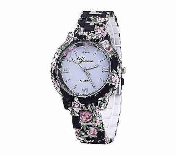 Watch Black Stainless Steel Analog Watch for Women