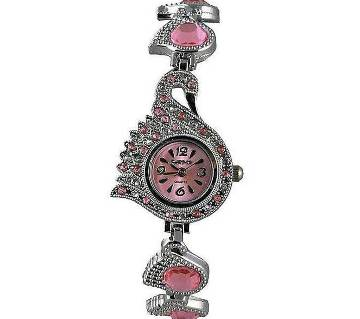 Watch Silver and Pink Stainless Steel Analog
