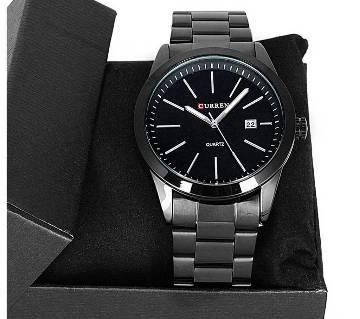 Curren Stainless Steel Wrist Watch for Men - Black
