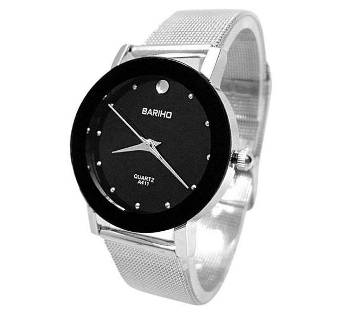Stainless Steel Analog Watch For Men - Silver By Watch Zone