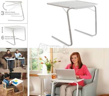 B601 Folding Table for Laptop - White