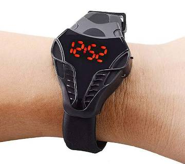 Black Silicone LED Watch for Men