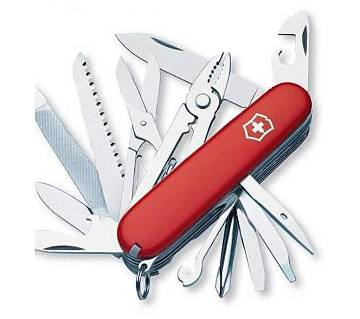 12 in 1 Multi function Army Knife - Red and Silver