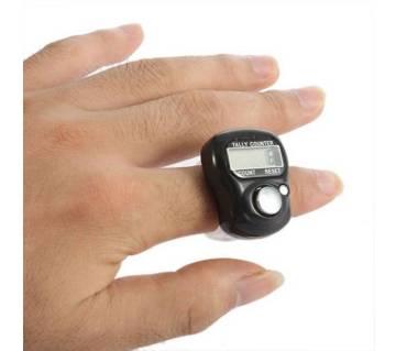 5-Digit Digital Ring Finger Hand Tally Counter - Black