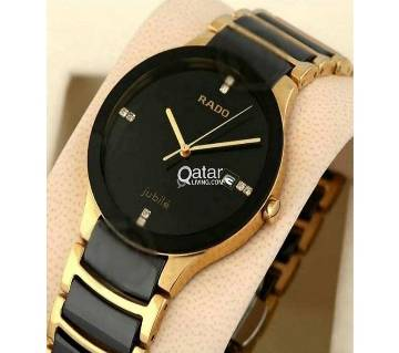 Stainless Steel Analog Watch for Women - Black and Golden