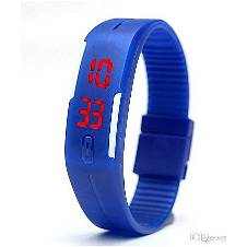 Watch Silicone Digital LED ব্যান্ড ফর বয়েজ  - Blue