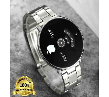 Analog Stainless Steel Chain Wrist Watch - Black Copy