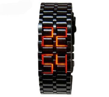 Stainless Steel Digital Watch for Men - Black