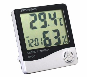Digital LCD Display Temperature & Humidity clock